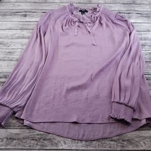 Simply Vera Wang Lilac Lavender Tie Front Blouse